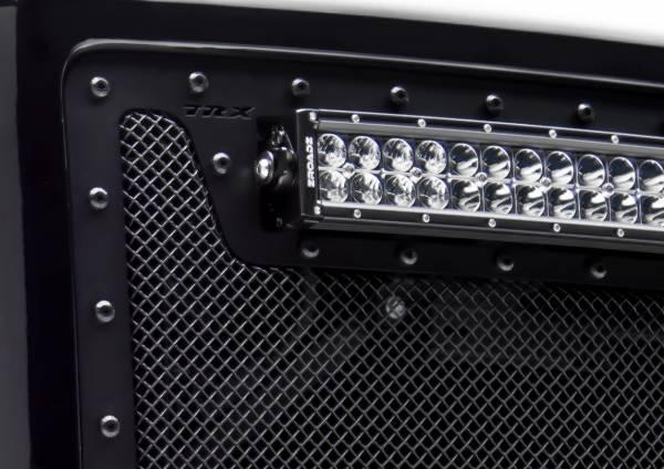 T-Rex - T-Rex Stealth X-Metal Grille, Black, Mild Steel, 2 Pc, Overlay 6711201-BR