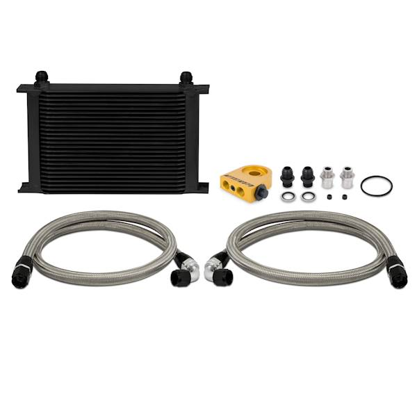 Mishimoto - FLDS Universal Thermostatic Oil Cooler Kit, Black, 25 Row MMOC-UHTBK