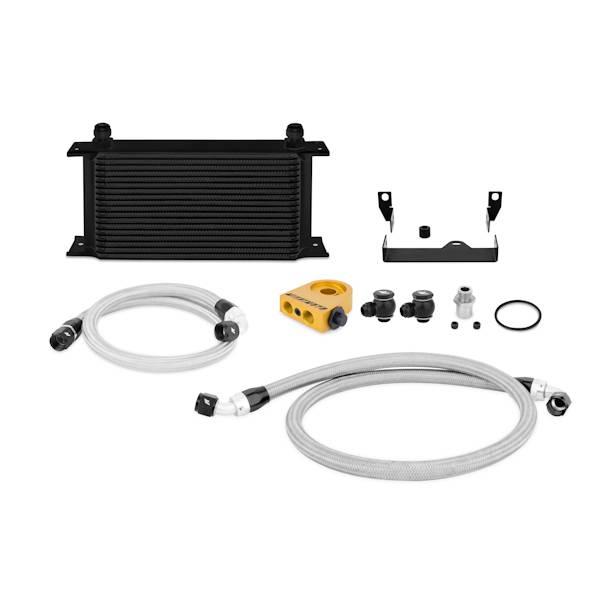 Mishimoto - FLDS Subaru WRX/STi Thermostatic Oil Cooler Kit, Black MMOC-WRX-06TBK