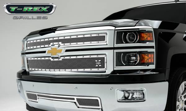 T-Rex - T-Rex X-Metal Grille, Polished, Stainless Steel, 2 Pc, Replacement 6711210