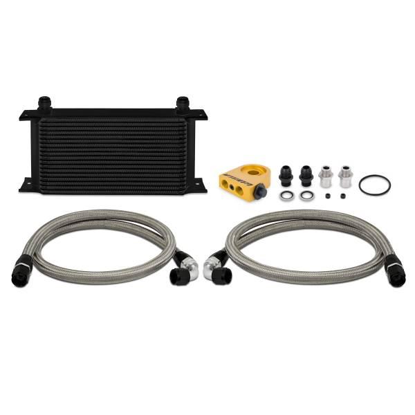 Mishimoto - FLDS Universal Thermostatic 19 Row Oil Cooler Kit, Black MMOC-ULTBK