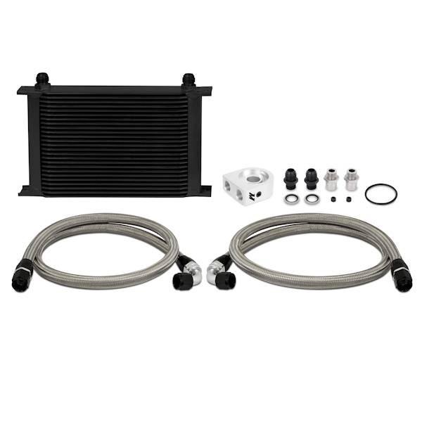 Mishimoto - FLDS Universal Oil Cooler Kit, Black, 25 Row MMOC-UHBK