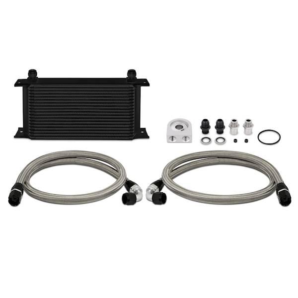 Mishimoto - FLDS Universal 19 Row Oil Cooler Kit, Black MMOC-ULBK