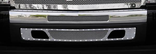 T-Rex - T-Rex X-Metal Bumper Grille, Polished, Stainless Steel, 2 Pc, Bolt-On 6721120