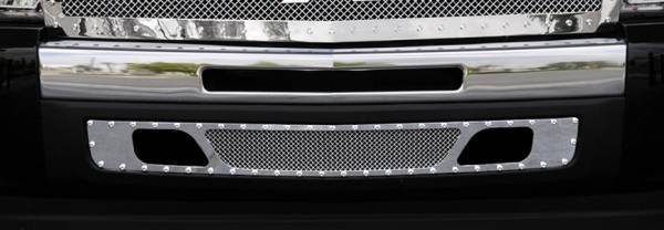 T-Rex - T-Rex X-Metal Bumper Grille, Polished, Stainless Steel, 1 Pc, Bolt-On 6721100