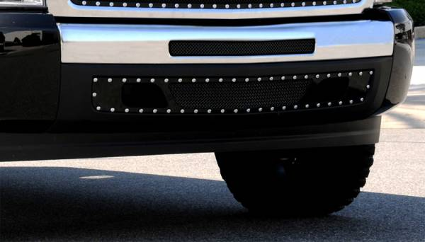 T-Rex - T-Rex X-Metal Bumper Grille, Black, Mild Steel, 2 Pc, Bolt-On 6721121