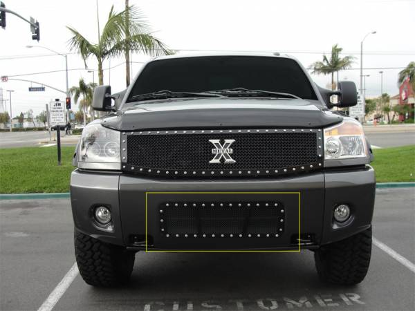 T-Rex - T-Rex X-Metal Bumper Grille, Black, Mild Steel, 1 Pc, Bolt-On 6727801