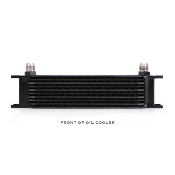 Mishimoto - FLDS Universal 10 Row Oil Cooler Kit, Black MMOC-UBK