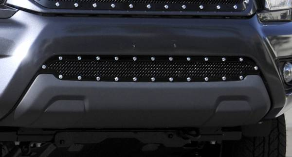 T-Rex - T-Rex X-Metal Bumper Grille, Black, Mild Steel, 1 Pc, Overlay 6729381