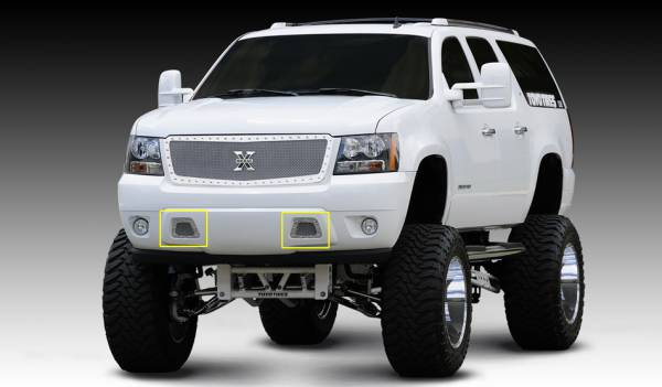 T-Rex - T-Rex X-Metal Bumper Grille, Polished, Stainless Steel, 2 Pc, Overlay 6720510