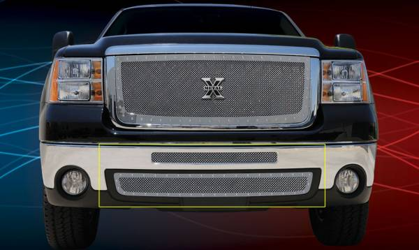 T-Rex - T-Rex X-Metal Bumper Grille, Polished, Stainless Steel, 2 Pc, Insert 6722060