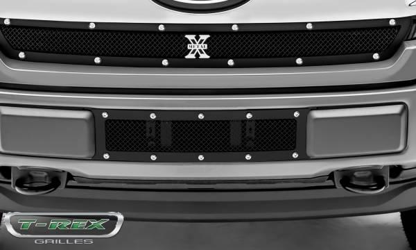 T-Rex - T-Rex X-Metal Bumper Grille, Black, Mild Steel, 1 Pc, Overlay 6725791
