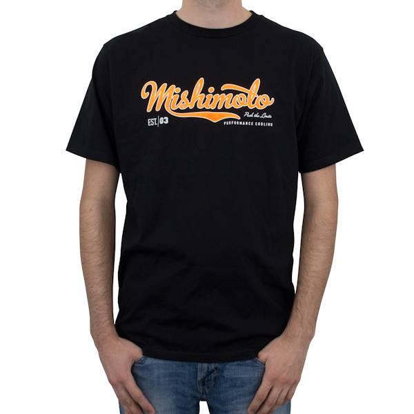 Mishimoto - FLDS Mishimoto Men's Athletic Script T-Shirt, Black MMAPL-SCRIPT-BKXL