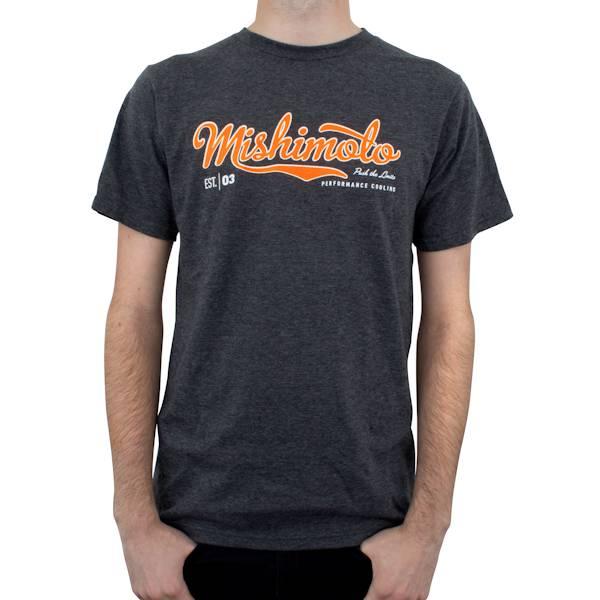 Mishimoto - FLDS Mishimoto Men's Athletic Script T-Shirt, Gray MMAPL-SCRIPT-GYS