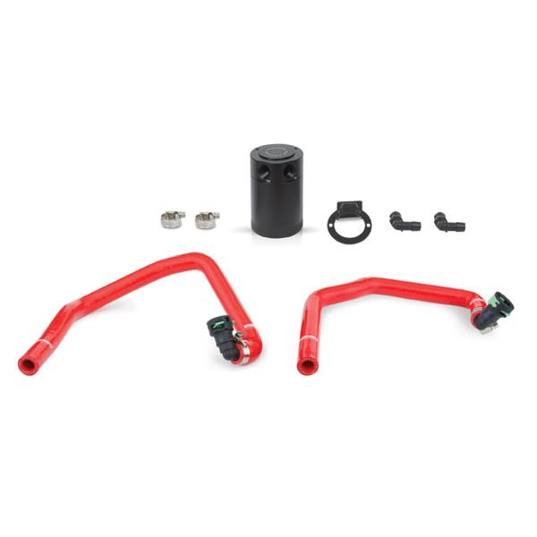 Mishimoto - FLDS Ford Mustang EcoBoost Baffled Oil Catch Can, PCV Side MMBCC-MUS4-15PRD
