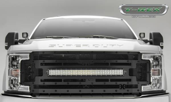 T-Rex - T-Rex Stealth Torch Grille, Black, Mild Steel, 1 Pc, Replacement 6315371-BR