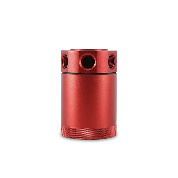 Mishimoto - FLDS Mishimoto Compact Baffled Oil Catch Can, 3-Port MMBCC-MSTHR-RD