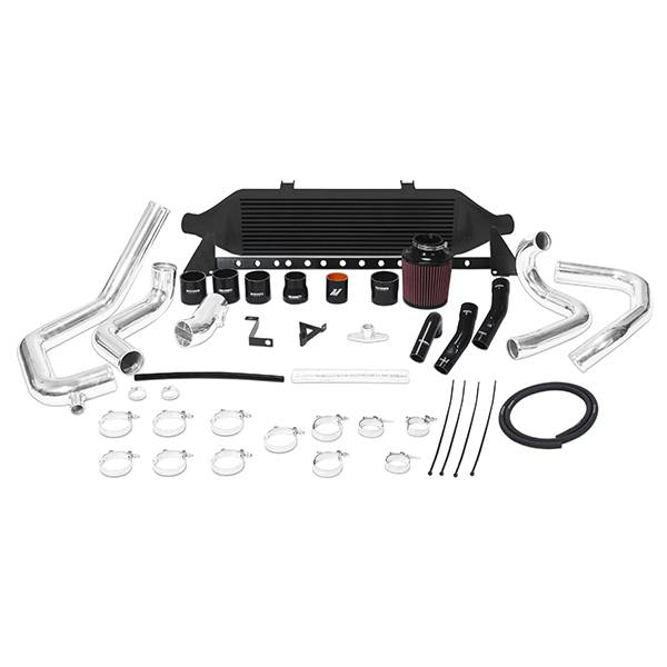 Mishimoto - FLDS Subaru WRX STI front-mount intercooler kit, W/Air Box, Black MMINT-STI-08AIBK
