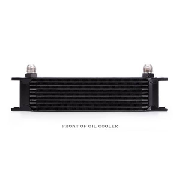 Mishimoto - FLDS Universal 10 Row Oil Cooler, Black MMOC-10BK