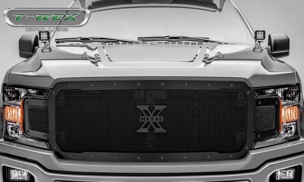 T-Rex - T-Rex Stealth X-Metal Grille, Black, Mild Steel, 1 Pc, Replacement 6715711-BR
