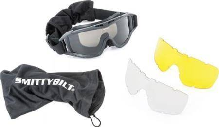 Smittybilt - Smittybilt Protective Goggles With Bag Clear / Smoke / Amber Lens Smittybilt 1504