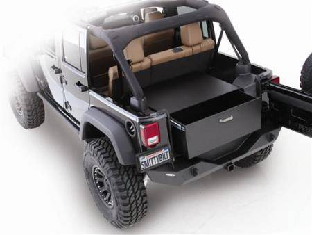 Smittybilt - Smittybilt Security Storage Vault 07-18 Wrangler JK 2 And 4 DR Rear Lockable Storage Box Smittybilt 2763
