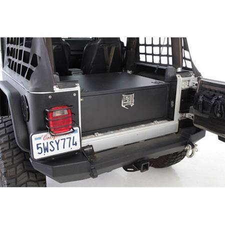 Smittybilt - Smittybilt Security Storage Vault 76-06 Wrangler CJ/TJ/YJ Rear Lockable Storage Box Smittybilt 2761