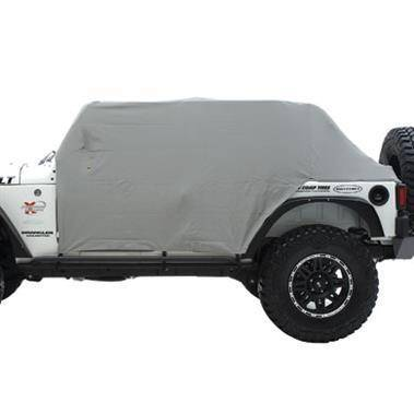 Smittybilt - Smittybilt Cab Cover W/Door Flap 76-86 Jeep CJ7 Gray Smittybilt 1059