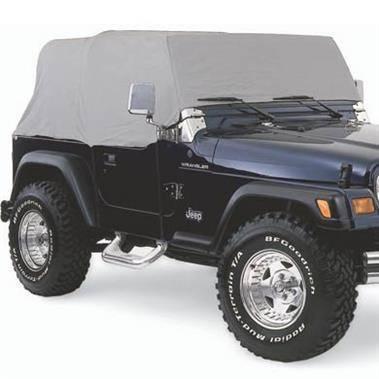 Smittybilt - Smittybilt Cab Cover W/O Door Flap 87-91 Wrangler YJ/TJ/LJ Gray Smittybilt 1160