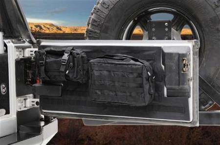 Smittybilt - Smittybilt Gear Tailgate Cover 97-06 Wrangler TJ/LJ Black Smittybilt 5662201