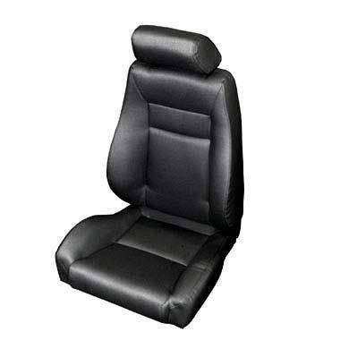 Smittybilt - Smittybilt Front Seat Contour Sport Bucket W/ Recliner 76-16 Wrangler CJ/YJ/TJ/LJ/JK Black Denim Smittybilt 49515