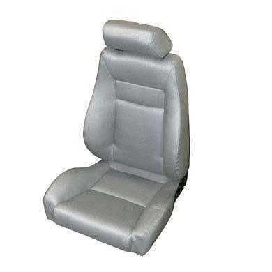 Smittybilt - Smittybilt Front Seat Contour Sport Bucket W/ Recliner 76-16 Wrangler CJ/YJ/TJ/LJ/JK Gray Denim Smittybilt 49511
