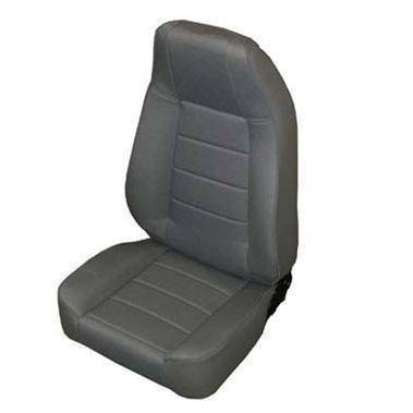 Smittybilt - Smittybilt Front Seat Factory Style Replacement W/ Recliner 76-16 Wrangler CJ/YJ/TJ/LJ/JK Denim Gray Smittybilt 45011