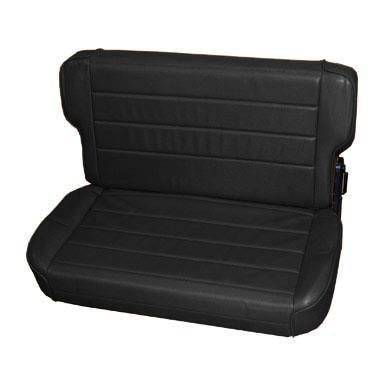 Smittybilt - Smittybilt Rear Seat 86-95 Wrangler YJ/CJ Fold And Tumble Vinyl Denim Black Smittybilt 41315
