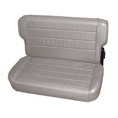 Smittybilt - Smittybilt Rear Seat 86-95 Wrangler YJ/CJ Fold And Tumble Vinyl Denim Gray Smittybilt 41311