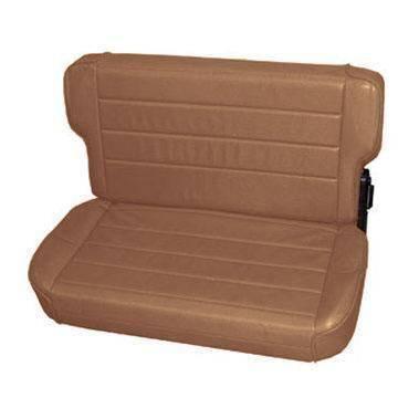 Smittybilt - Smittybilt Rear Seat 86-95 Wrangler YJ/CJ Fold And Tumble Vinyl Denim Spice Smittybilt 41317