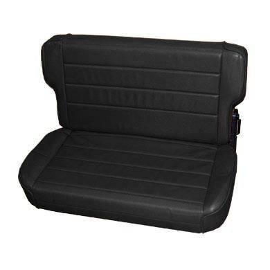 Smittybilt - Smittybilt Rear Seat 97-06 Wrangler TJ Fold And Tumble Vinyl Denim Black Smittybilt 41515