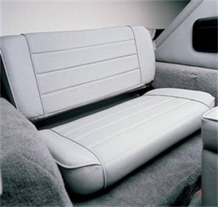 Smittybilt - Smittybilt Rear Seat 97-06 Wrangler TJ Fold And Tumble Vinyl Denim Gray Smittybilt 41511