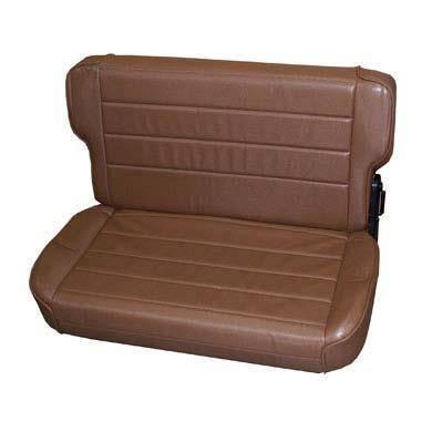 Smittybilt - Smittybilt Rear Seat 97-06 Wrangler TJ Fold And Tumble Vinyl Denim Spice Smittybilt 41517