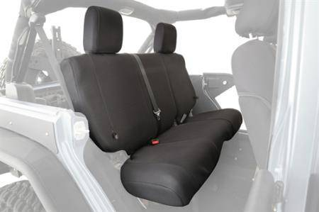 Smittybilt - Smittybilt GEAR Seat Covers 97-02 Wrangler TJ Rear Custom Fit Black Smittybilt 56647101