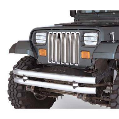 Smittybilt - Smittybilt Euro Head Light Guards 87-95 Wrangler YJ Black 4 Piece Smittybilt 5659