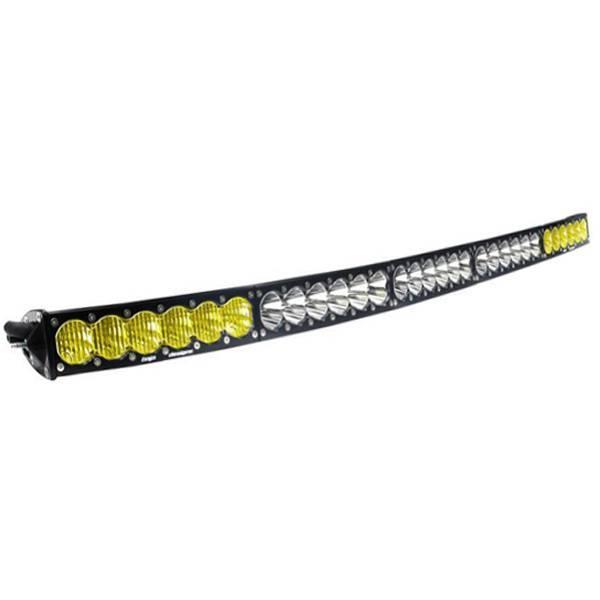 Baja Designs - Baja Designs 50 Inch LED Light Bar Amber/White Dual Control Pattern OnX6 Arc Series Baja Designs 525003DC