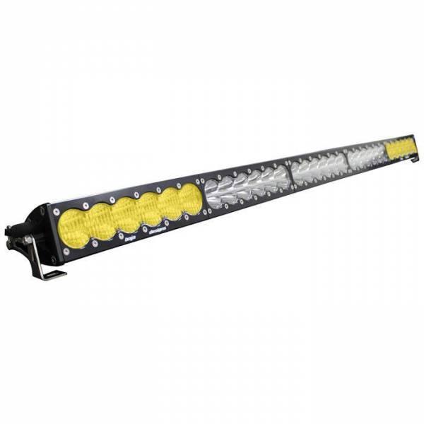 Baja Designs - Baja Designs 50 Inch LED Light Bar Amber/Wide Wide Dual Control Pattern OnX6 Series Baja Designs 465014