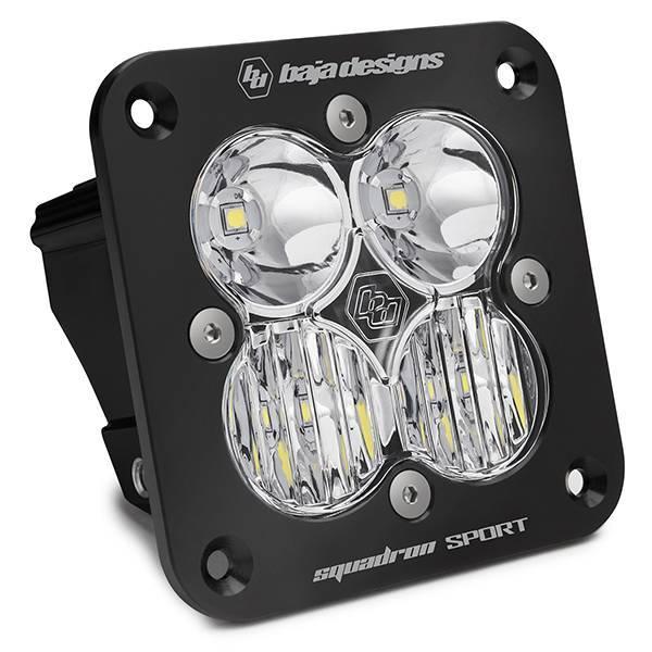 Baja Designs - Baja Designs Flush Mount LED Light Pod Black Clear Lens Driving/Combo Pattern Squadron Sport Baja Designs 551003
