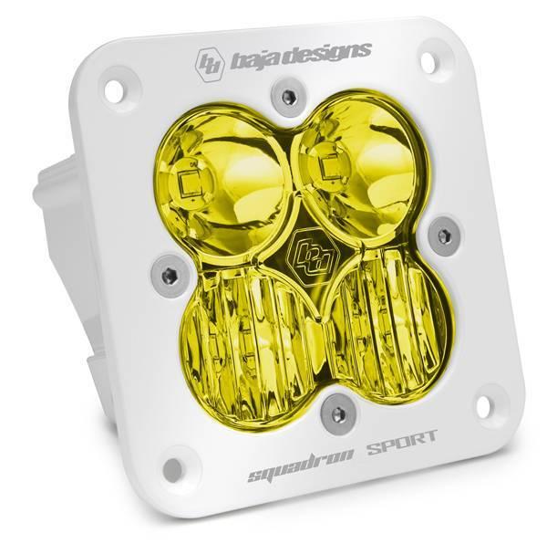 Baja Designs - Baja Designs Flush Mount LED Light Pod White Amber Lens Driving/Combo Pattern Squadron Sport Baja Designs 551013WT