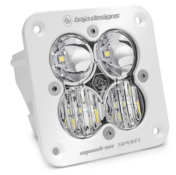 Baja Designs - Baja Designs Flush Mount LED Light Pod White Clear Lens Driving/Combo Pattern Squadron Sport Baja Designs 551003WT