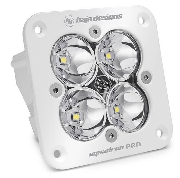 Baja Designs - Baja Designs Flush Mount LED Light Pod White Clear Lens Spot Pattern Squadron Pro Baja Designs 491001WT