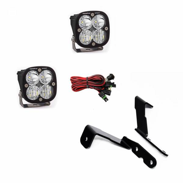 Baja Designs - Baja Designs GM Silverado/Sierra (07-13) A-Pillar Kit Squadron Sport Lights Baja Designs 447575