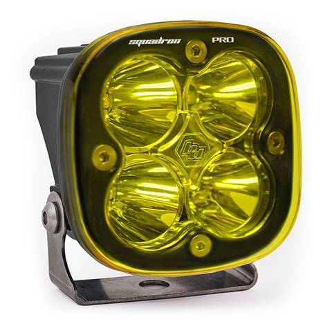 Baja Designs - Baja Designs LED Light Pod Black Amber Lens Spot Pattern Squadron Pro Baja Designs 490011