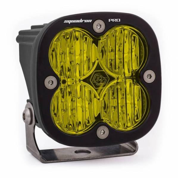 Baja Designs - Baja Designs LED Light Pod Black Amber Lens Wide Cornering Pattern Squadron Pro Baja Designs 490015